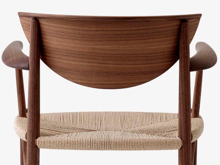 Cord Mid-Century Modern Scandinavian Armchair Model 317 in Walnut For Sale