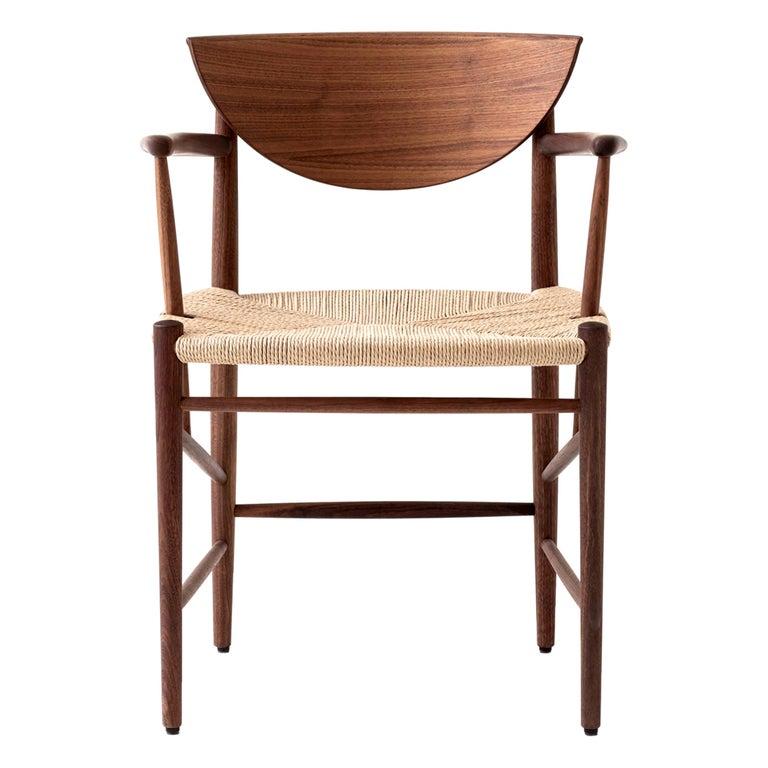Mid-Century Modern Scandinavian Armchair Model 317 in Walnut For Sale