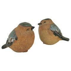 Mid-Century Modern Scandinavian Ceramic Birds Figurines, Sweden, 1960s
