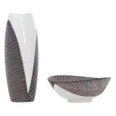 Mid-Century Modern Scandinavian Ceramic Bowl
