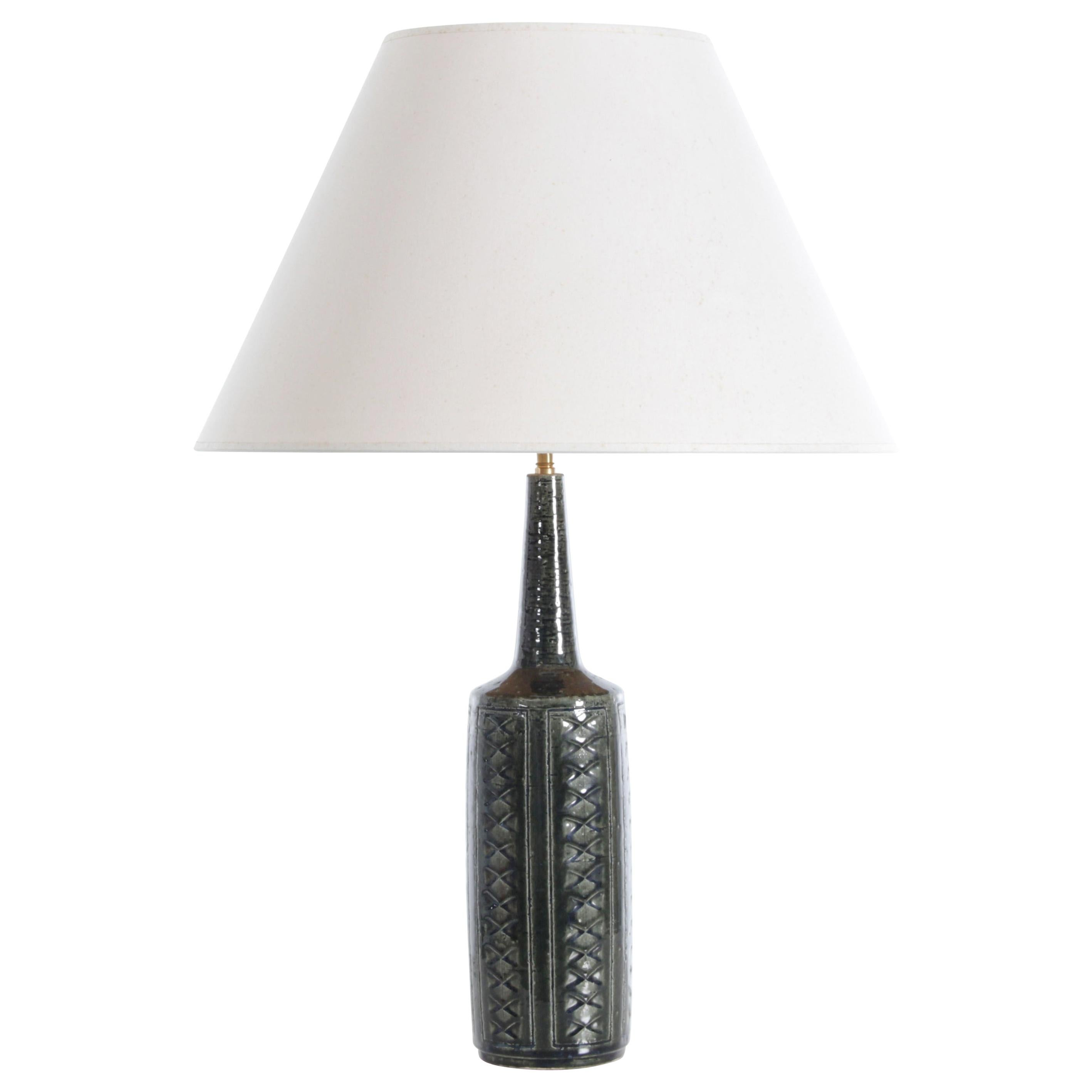 Mid-Century Modern Scandinavian Ceramic Table Lamp by Palshus