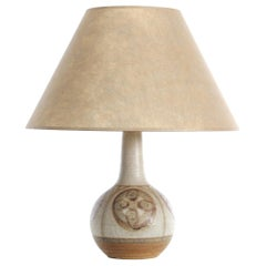 Mid-Century Modern Scandinavian Ceramic Table Lamp by Søholm