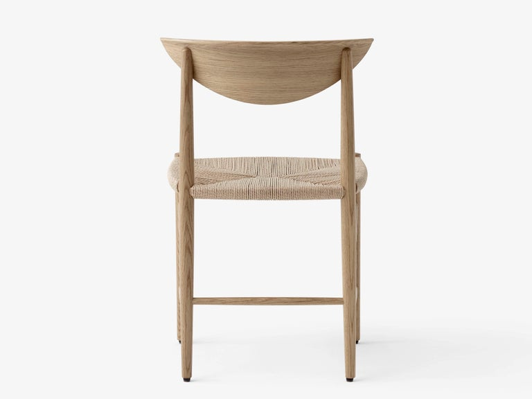 Drawn chair model 316 by Hvidt and Mølgaard. New edition. The model 316 chair by Hvidt & Mølgaard stands out as a definitive piece of Danish design. Relying upon traditional craftsmanship techniques and built out of organic materials, it brings a