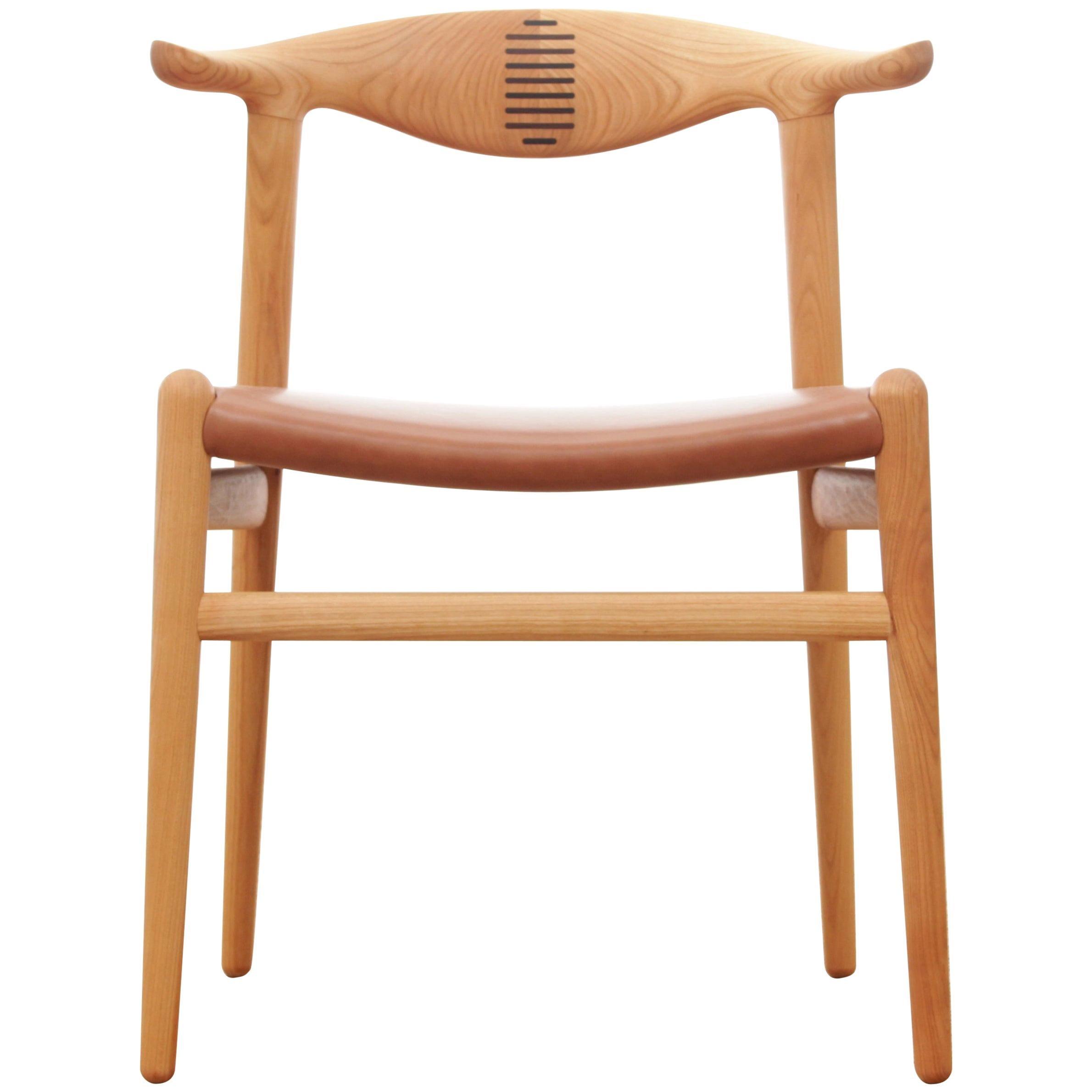 Mid-Century Modern Scandinavian Chair Model Cow Horn PP 505 by Hans Wegner