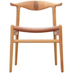 Mid-Century Modern Scandinavian Chair Model Cow Horn PP 505 by Hans Wegner
