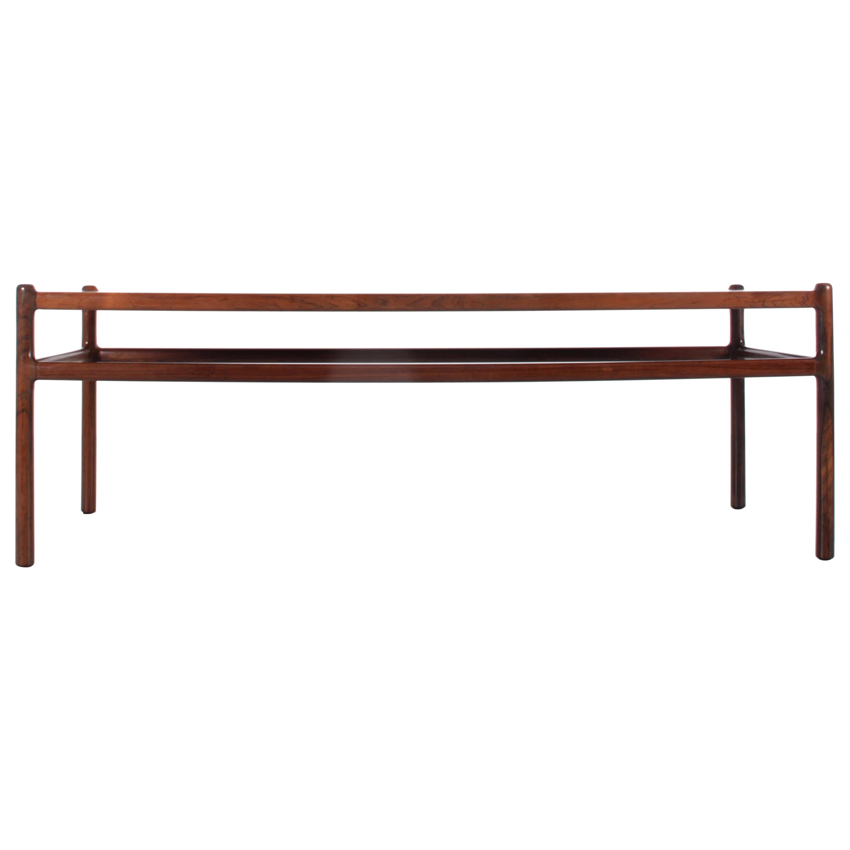 Mid-Century Modern Scandinavian Coffee Table in Rosewood by Henning Korch