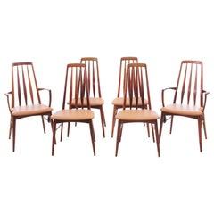Mid-Century Modern Scandinavian Danish Set of 4 Chairs and 2 Armchairs