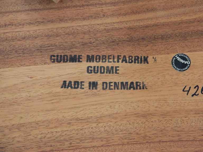 Mid-Century Modern Scandinavian Dining Table from Gudme Møbelfabrik in Rosewood 4