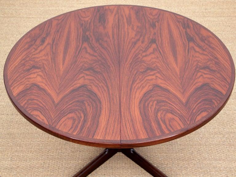 European Mid-Century Modern Scandinavian Dining Table from Gudme Møbelfabrik in Rosewood