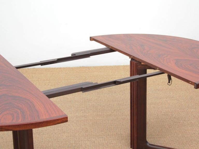 Teak Mid-Century Modern Scandinavian Dining Table from Gudme Møbelfabrik in Rosewood