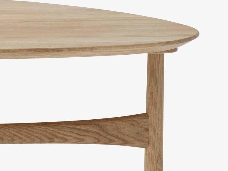Scandinavian Modern Mid-Century Modern Scandinavian Drop Leaf Side Table in Oak For Sale
