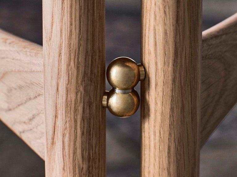 Contemporary Mid-Century Modern Scandinavian Drop Leaf Side Table in Oak For Sale