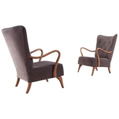 Mid-century modern Scandinavian Easy Chairs from the 1950s