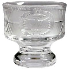 Mid-Century Modern Scandinavian Glass Bowl by Bertil Vallien for Boda Afors