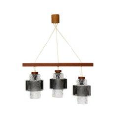Mid-Century Modern, Scandinavian Glass Celling Lamp, 1960s
