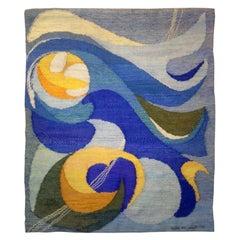 Mid-Century Modern Scandinavian Handwoven Wall Tapestry
