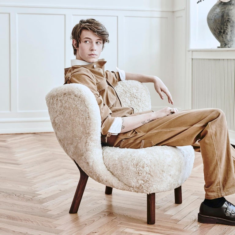 Mid Century Modern Scandinavian Little Petra Vb1 Lounge Chair By Viggo Boesen For Sale At 1stdibs