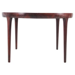 Mid-Century Modern Scandinavian Oval Dining Table in Rosewood by K. Larsen