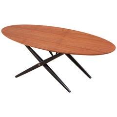 Mid-Century Modern Scandinavian Ovalette Table by  Ilmari Tapiovaara
