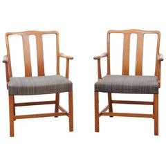Mid-Century Modern Scandinavian Pair of Armchairs by Ole Wancher