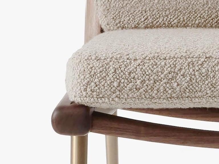 Brass Mid-Century Modern Scandinavian Pair of Boomerang Lounge Chair For Sale