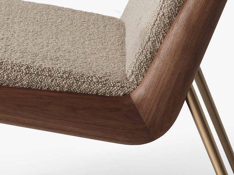 Mid-Century Modern Scandinavian Pair of Boomerang Lounge Chair For Sale 1
