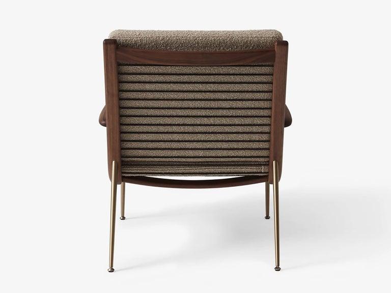 Scandinavian Modern Mid-Century Modern Scandinavian Pair of Boomerang Lounge Chair with Armrest For Sale