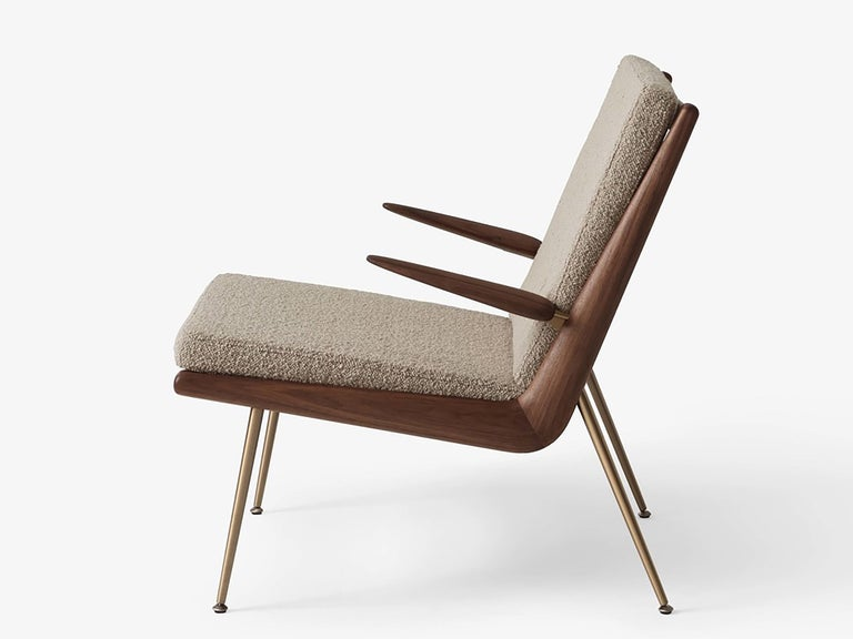 Mid-Century Modern Scandinavian Pair of Boomerang Lounge Chair with Armrest In New Condition For Sale In Courbevoie, FR