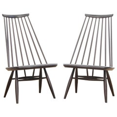 Mid-Century Modern Scandinavian Pair of Mademoiselle Chair by Tapiovaara