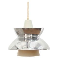 Mid-Century Modern Scandinavian Pendant Lamp Doo-Wop Chrome by Louis Poulsen