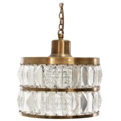 Mid-Century Modern Scandinavian Pendant Lamp in Cristal