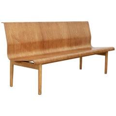 Mid-Century Modern Scandinavian Plywood Bench in Style of Erik Gunnar Asplund