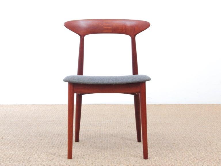 Mid Century Modern Scandinavian Set Of 4 Teak Dinning Chairs By Kurt Østervig For