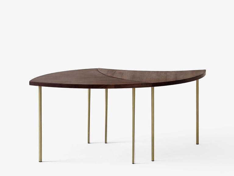 Scandinavian Modern Mid-Century Modern Scandinavian Set of 6 Pinwheel HM7 Coffee or Side Tables For Sale