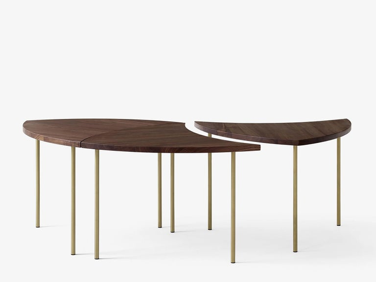 Mid-Century Modern Scandinavian Set of 6 Pinwheel HM7 Coffee or Side Tables In New Condition For Sale In Courbevoie, FR