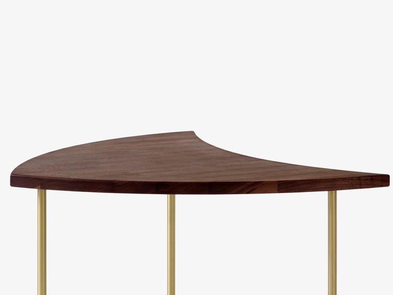 Brass Mid-Century Modern Scandinavian Set of 6 Pinwheel HM7 Coffee or Side Tables For Sale