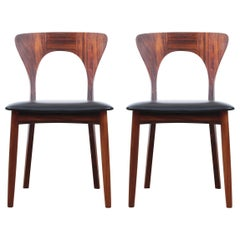 Mid-Century Modern Scandinavian Set of Dining Chairs in Rosewood