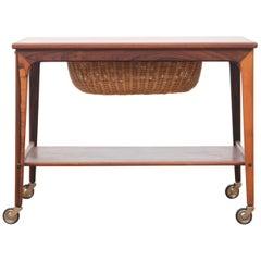 Mid-Century Modern Scandinavian Side Table in Rosewood by Johannes Andersen
