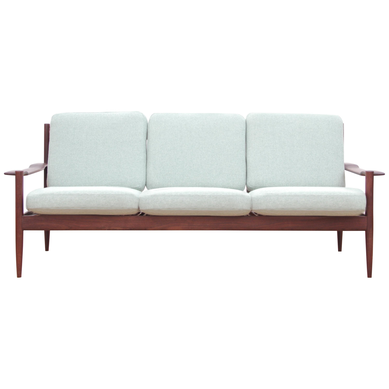 Mid-Century Modern Scandinavian Sofa in Teak