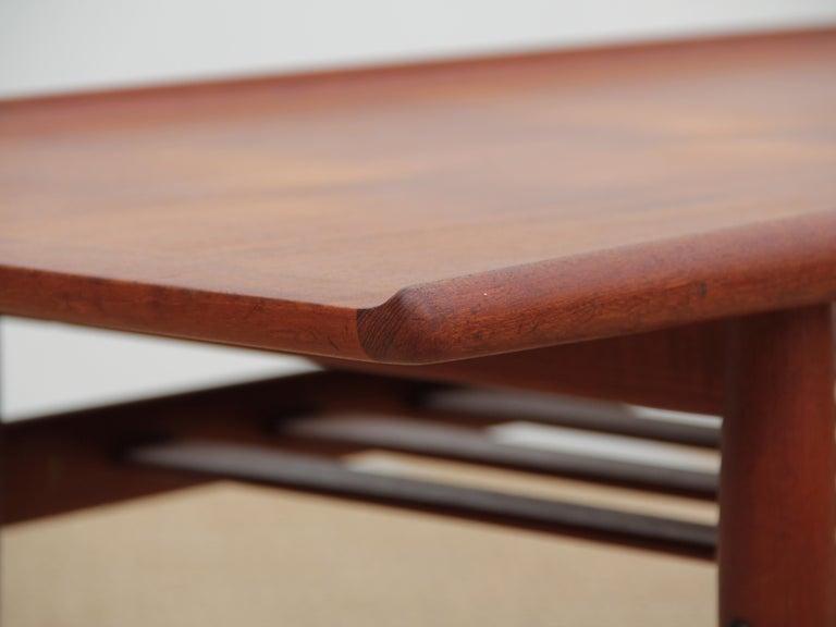 Beech Mid-Century Modern Scandinavian Sofa Table by Grete Jakl