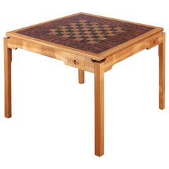 Mid-Century Modern Scandinavian Square Game Table by Gorm Lindum Et Rolf Middel