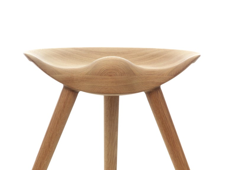 Mid-Century Modern Scandinavian stool model ML42 by Mogens Lassen, new edition. In 1942 Mogens Lassen designed the Stool ML42 as a piece for a furniture exhibition held at the Danish Museum of Decorative Art. He took inspiration from the stools used