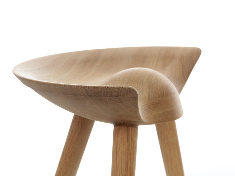 Mid-Century Modern Scandinavian Stool Model ML42 by Mogens Lassen, New Edition In Good Condition For Sale In Courbevoie, FR