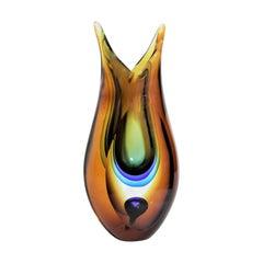 Mid-Century Modern Scandinavian Studio Art Glass Vase