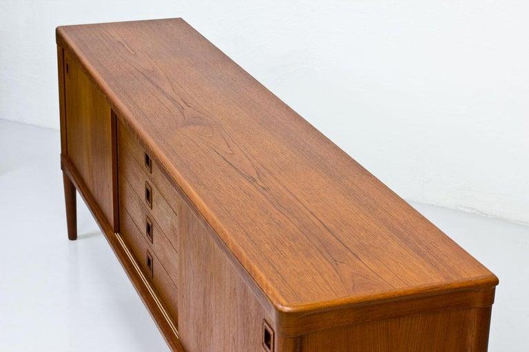 Mid-Century Modern Scandinavian Teak Sideboard by H.W. Klein for Bramin, Denmark For Sale 7