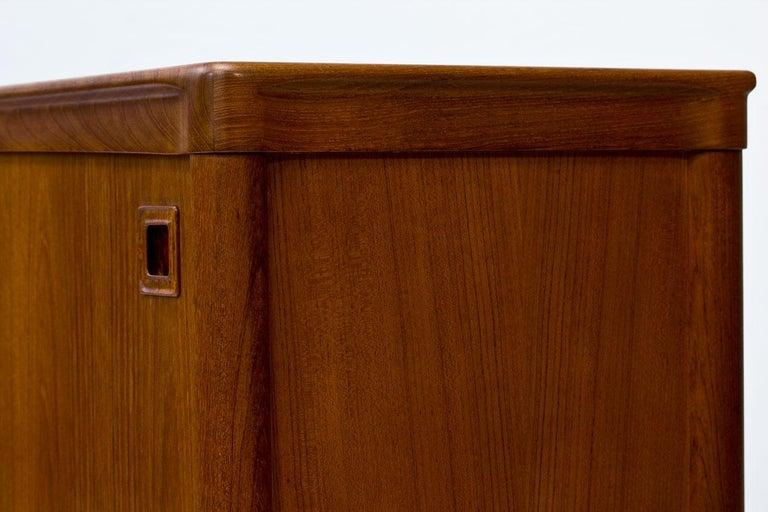 Mid-Century Modern Scandinavian Teak Sideboard by H.W. Klein for Bramin, Denmark For Sale 11