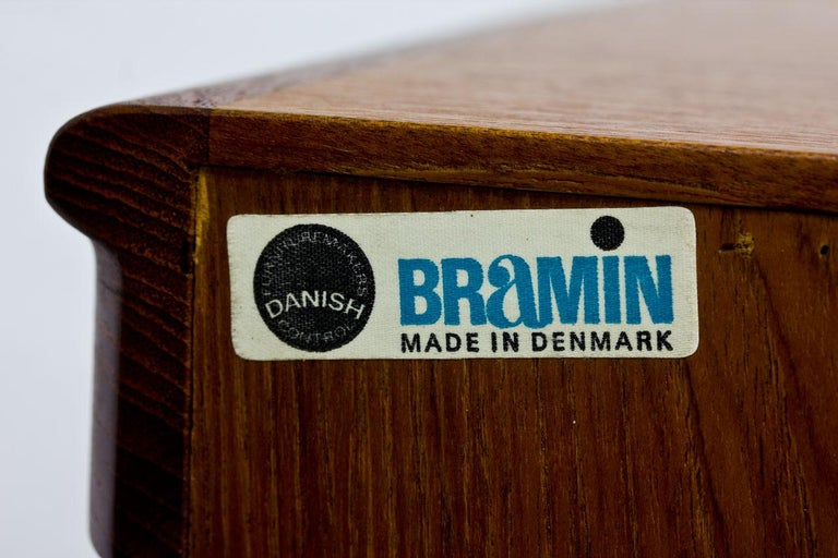 Mid-Century Modern Scandinavian Teak Sideboard by H.W. Klein for Bramin, Denmark For Sale 14