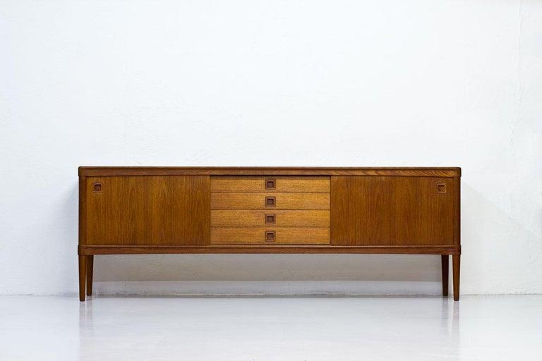 Scandinavian Modern Mid-Century Modern Scandinavian Teak Sideboard by H.W. Klein for Bramin, Denmark For Sale