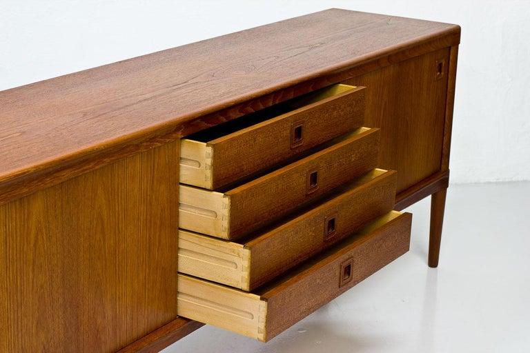 Mid-Century Modern Scandinavian Teak Sideboard by H.W. Klein for Bramin, Denmark For Sale 3