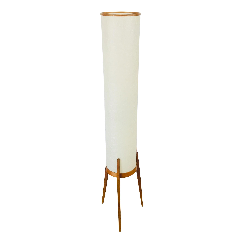 Mid-Century Modern Scandinavian Tripod Teak Floor Lamp, 1960s